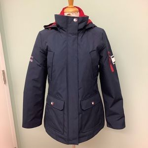 Tommy Hilfiger | Womens 3 in 1 Coat | Navy & Red